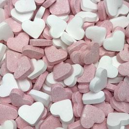 Traubenzucker Fruchtherzen Rosa-Weiß