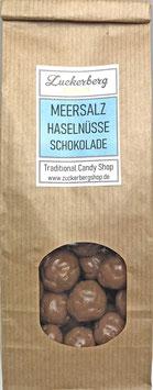 Schokoladen Haselnüsse mit Meersalz