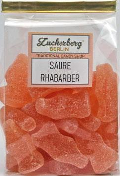 Saure Rhabarber-Flaschen