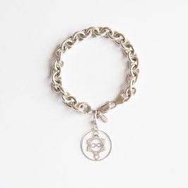 Silber Armband, Heart Spirit Kraft-Symbol dick
