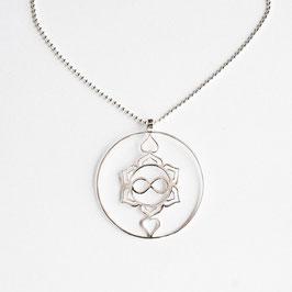 Silber Kette, Heart Spirit Kraft-Symbol 90cm