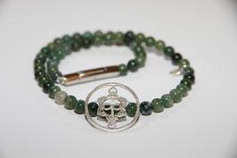 Edelstein Halsband - Heart Spirit Kraft-Symbol, 925 Silber