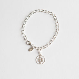 Silber Armband, Heart Spirit Kraft-Symbol schmal