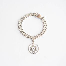 Silber Armband, Heart Spirit Kraft-Symbol mittel