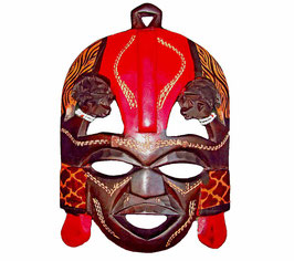 Wooden Maasai Kissing Mask