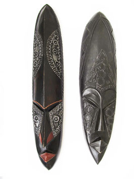 Ethiopian Wooden Mask Pair