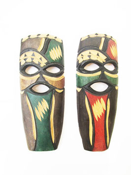 Small Zulu Wooden Mask pair