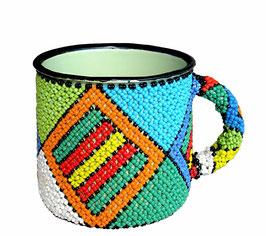 Beaded Enamel Tin Mug