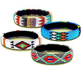 African beaded bangles - Zulu