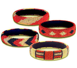 African beaded bangles - Contemporary