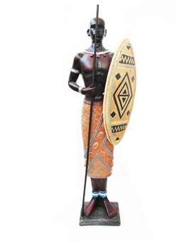 Large Kenyan Warrior figure Mixed media