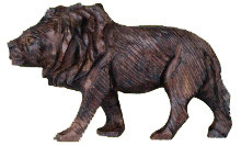 Lion Ironwood Sculpture