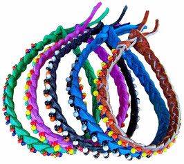 African Beaded Leather Bracelet