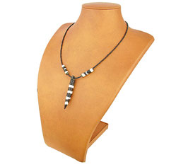 African Beaded Necklace with Charm