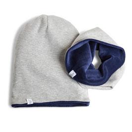 myBabyloon jersey-nickiset, grau-blau