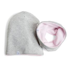 myBabyloon jersey-nickiset, grau-rosa