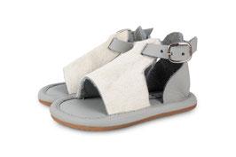 donsje lilu sandale, hellgrau-weiß