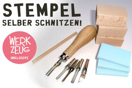 Stempelschnitz-Set Profi inkl. Werkzeug