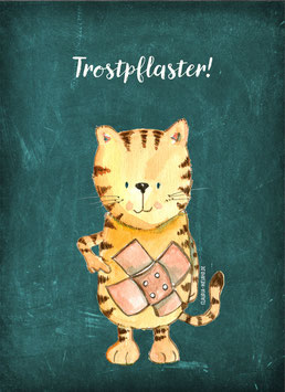 TROSTPFLASTER Postkarte