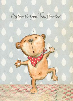 Regen ist zum Tanzen da! Postkarte