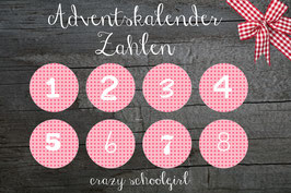 24 STICKER ADVENTSKALENDER * Serie CRAZY