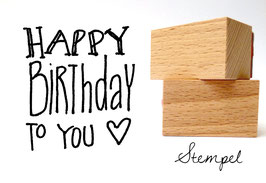 Happy Birthday! Stempel