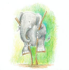 Elefant Jupp will hoch hinaus
