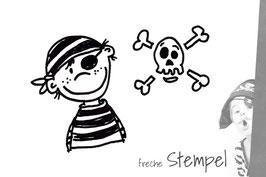 Pirat und Totenkopf