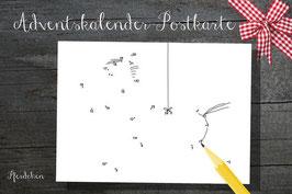 Punkt zu Punkt - Adventskalender Postkarten