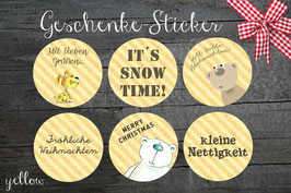 12 STICKER SNOWTIME
