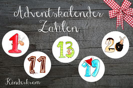 24 Adventskalender Sticker Kinderkram