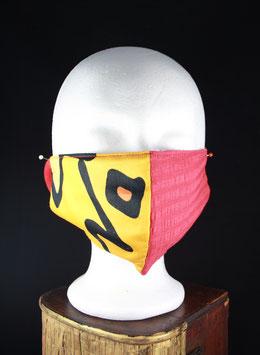 Nr. 433   Behelfs - Mund - Nasen - Maske   GR. uni    rot / orange