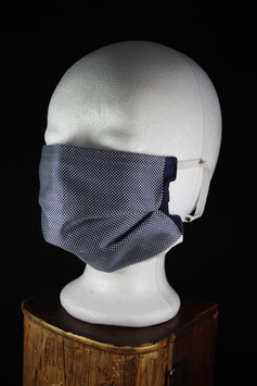 Nr. 437    Behelfs - Mund - Nasen - Maske  Gr. uni     blau weiß