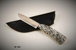 Nr 104  Messer aus Durostat mit Griff aus mühlviertler Granit