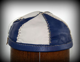 lederne Kopfbedeckung blau weiß Nr 41