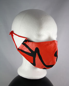 Nr. 490  MUND - NASE - MASKE  orange  GR. M-L