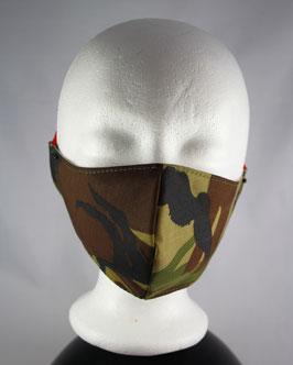 Nr. 491   MUND - NASE - MASKE camouflage GR. M-L