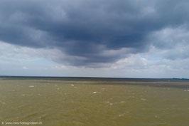 Sturmwolke über der Nordsee