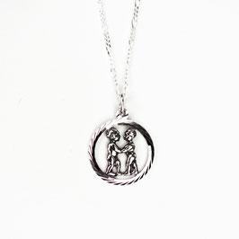 GEMINI // ZWILLINGE – Sternzeichenkette Silber