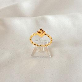 ONA – Ring Gold mit gelbem Zirkonia