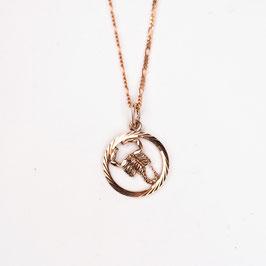 SCORPIO // SKORPION – Sternzeichenkette  Rosè vergoldet