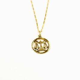 LIBRA // WAAGE – Sternzeichenkette vergoldet