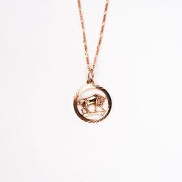 TAURUS // STIER – Sternzeichenkette rosé vergoldet