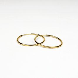 MAGDA – Creolen 32 mm gelb vergoldet