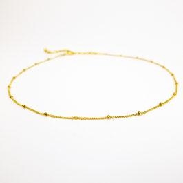 ISKA –Zartes Halsband mit Perlen Gold