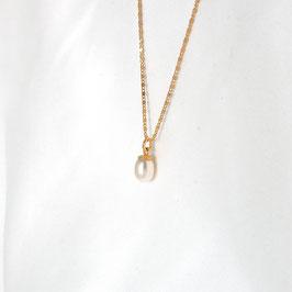 FORTUNA - feine Kette mit Perle vergoldet
