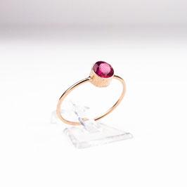 COSIMA — Ring Roségold mit syntethischem Rubin