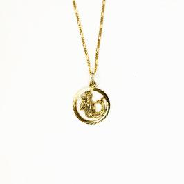 AQUARIUS // WASSERMANN – Sternzeichenkette vergoldet