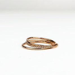 ALEXIA I – Set aus 3 Ringen Roségold