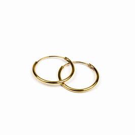 MAGDA – Creolen 16 mm gelb vergoldet